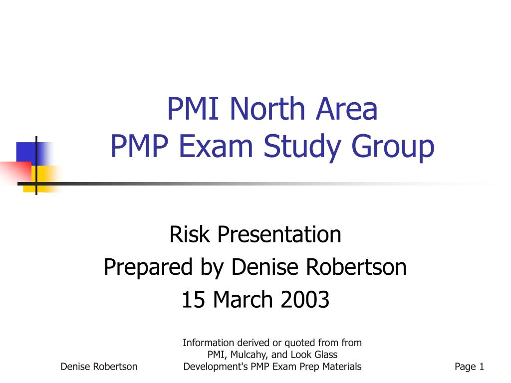 pmi north area pmp exam study group l.