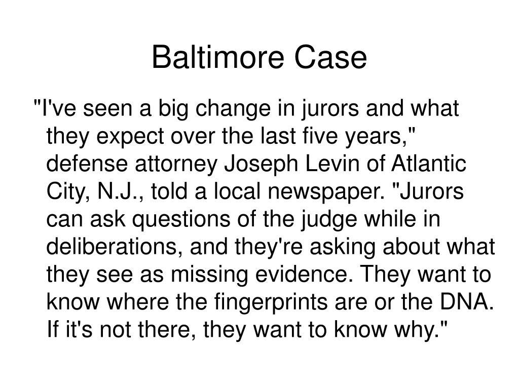 Baltimore Case