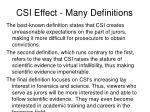 csi effect many definitions