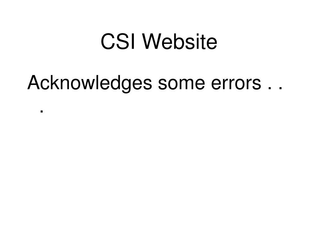 CSI Website