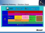 learning gateway solution stack