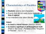 characteristics of parables