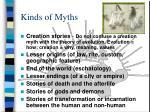 kinds of myths