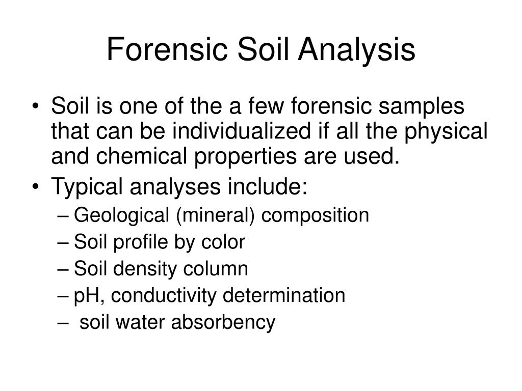 Forensic Soil Analysis