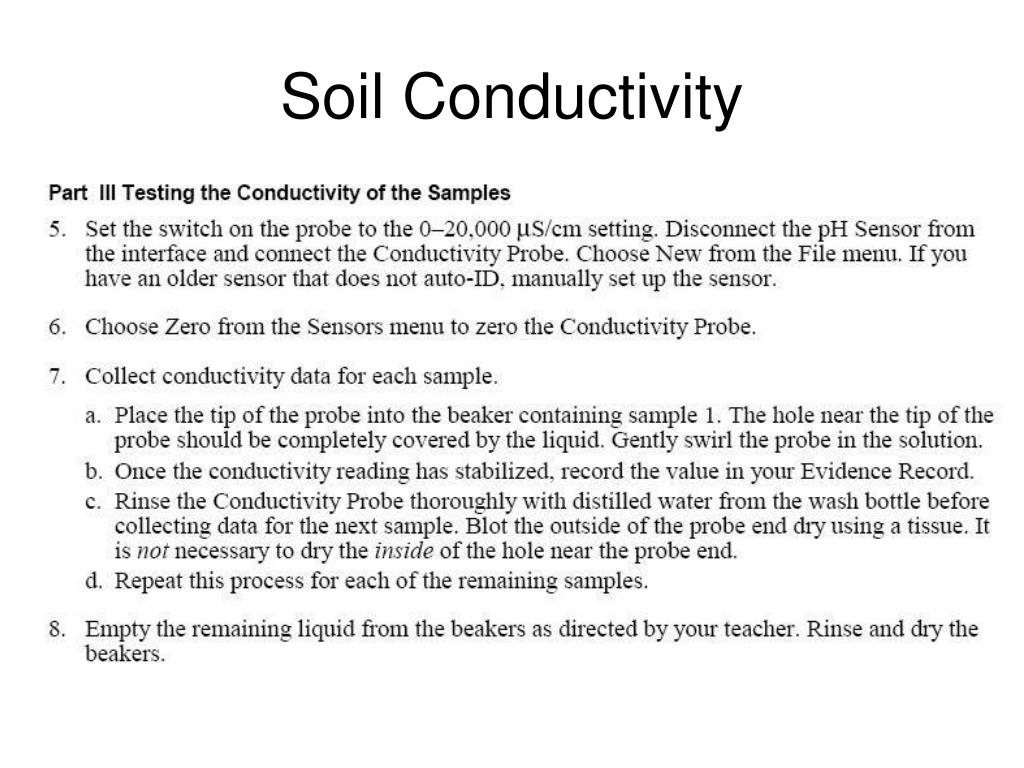Soil Conductivity