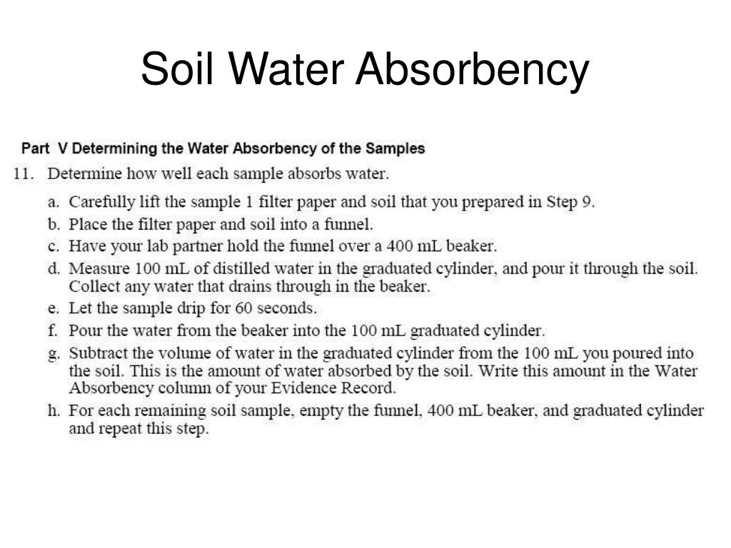 Soil Water Absorbency