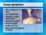 croup symptoms