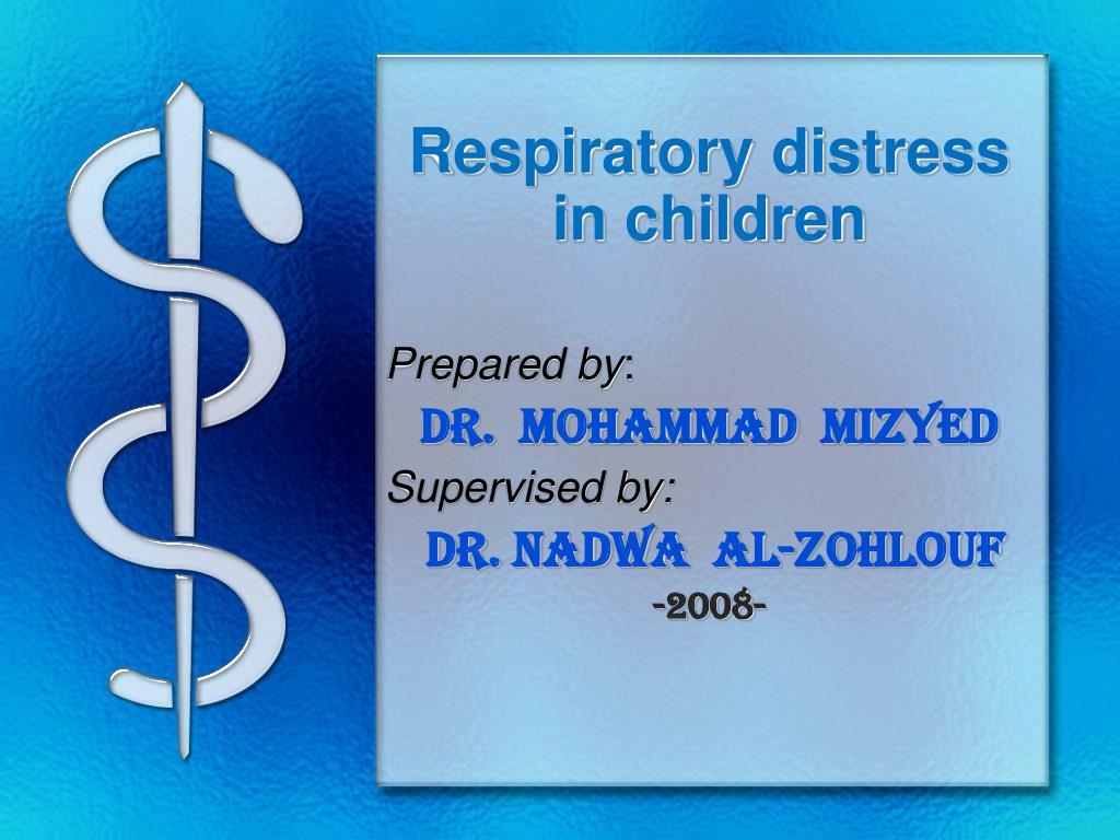 respiratory distress in children l.