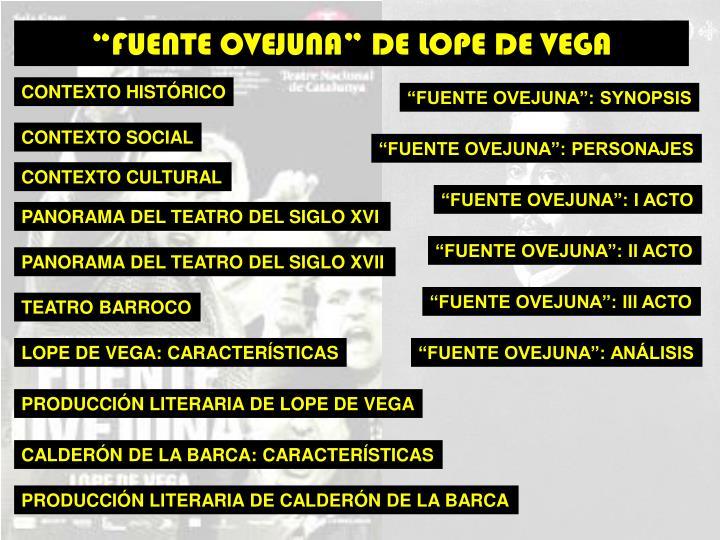 """""""FUENTE OVEJUNA"""" DE LOPE DE VEGA"""
