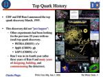 top quark history