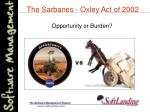the sarbanes oxley act of 2002