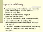 logic model and planning