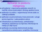 aplikacije za poslovnu inteligenciju
