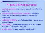 proces otkrivanja znanja