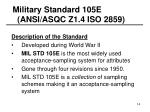 military standard 105e ansi asqc z1 4 iso 2859