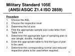 military standard 105e ansi asqc z1 4 iso 285918