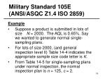 military standard 105e ansi asqc z1 4 iso 285919