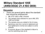 military standard 105e ansi asqc z1 4 iso 285920
