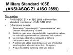 military standard 105e ansi asqc z1 4 iso 285921