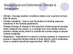 background and definitions climate adaptation