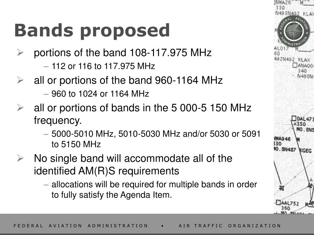 Bands proposed