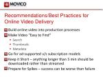 recommendations best practices for online video delivery