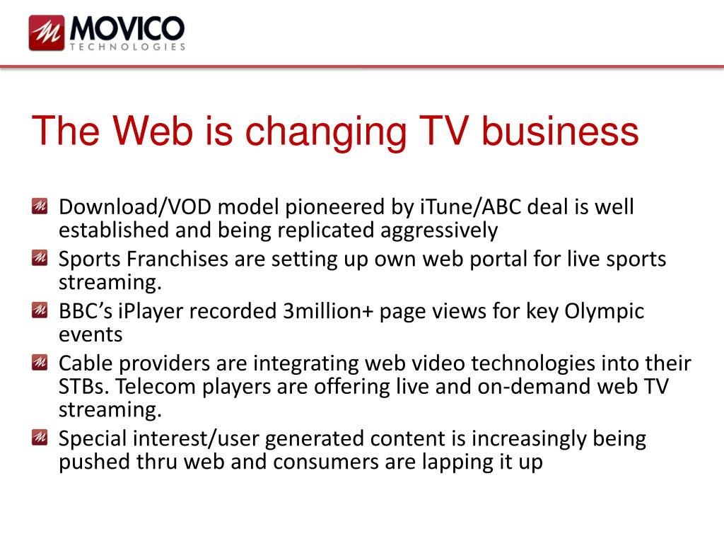 The Web is changing TV business
