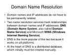 domain name resolution