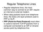regular telephone lines