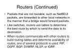 routers continued16