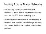 routing across many networks