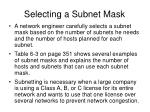 selecting a subnet mask