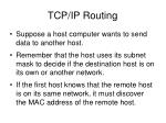tcp ip routing