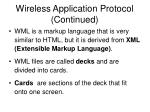 wireless application protocol continued