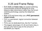x 25 and frame relay