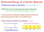 rotational energy of a diatomc molecule