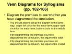 venn diagrams for syllogisms pp 162 1667