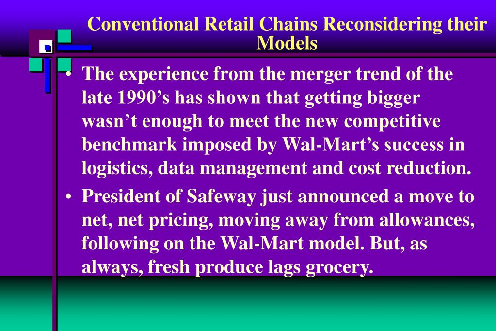 Conventional Retail Chains Reconsidering their Models