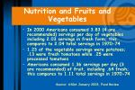 nutrition and fruits and vegetables