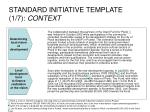 standard initiative template 1 7 context