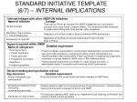 standard initiative template 6 7 internal implications