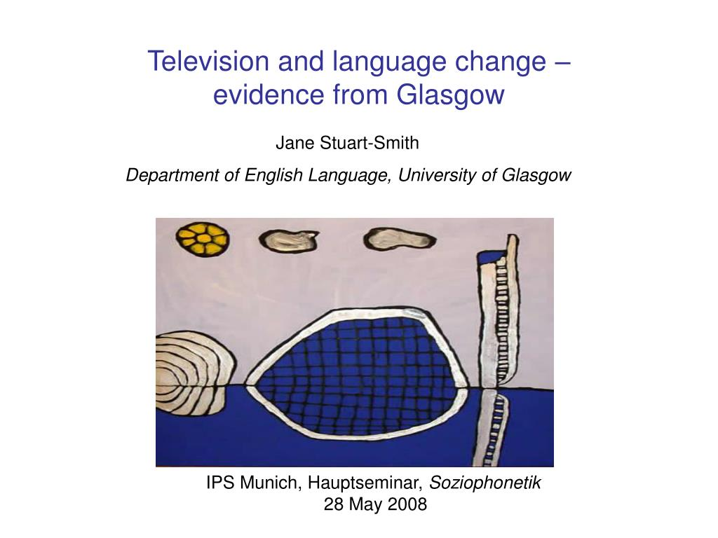 television and language change evidence from glasgow l.