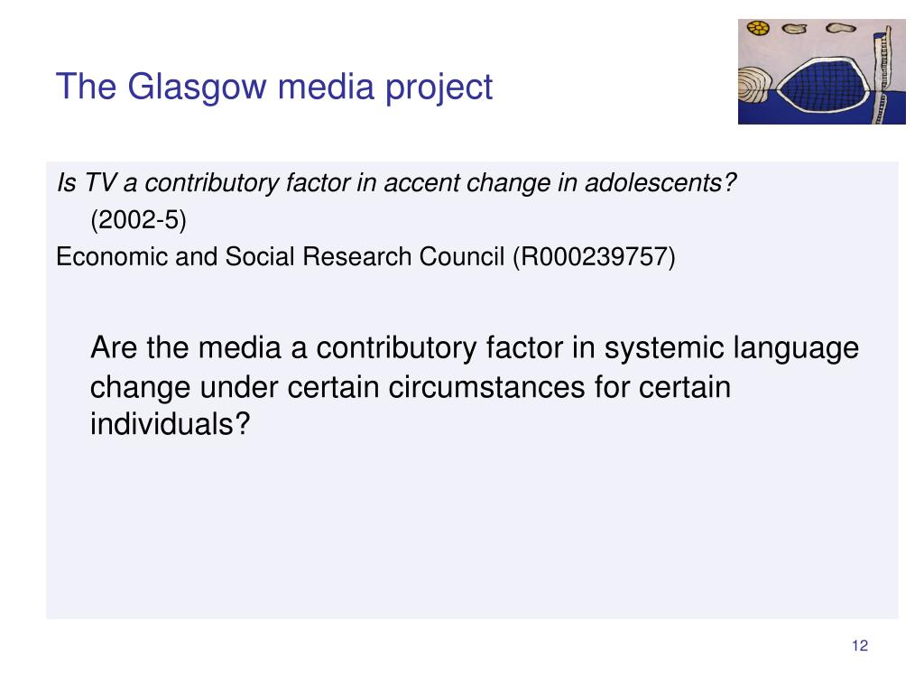 The Glasgow media project