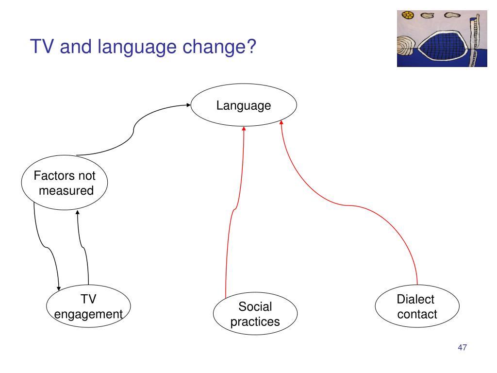 TV and language change?