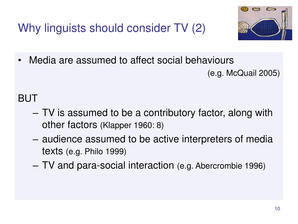 Why linguists should consider TV (2)