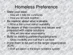 homeless preference