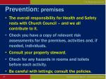 prevention premises