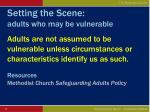 setting the scene adults who may be vulnerable