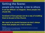 setting the scene people who may be a risk to others