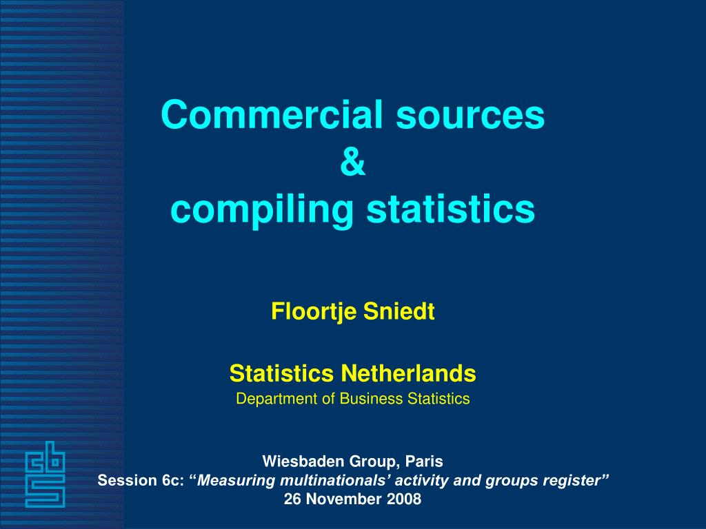 commercial sources compiling statistics l.